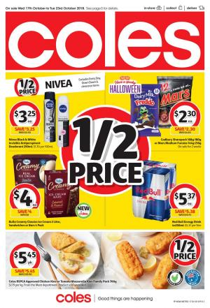 coles catalogue 17 oct 2018