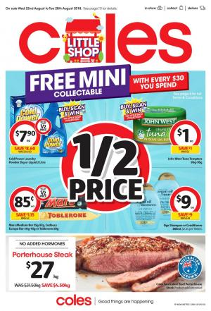 coles catalogue 22 august 2018