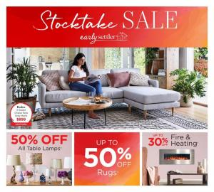 early settler catalogue stocktake sale may 2019