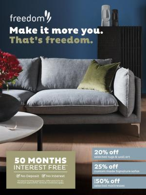 freedom furniture catalogue 3 mar 16 apr 2020