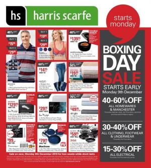 harris scarfe catalogue december 2019