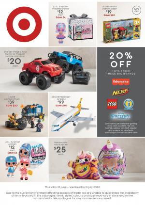 target catalogue toy sale 25 jun 15 jul 2020