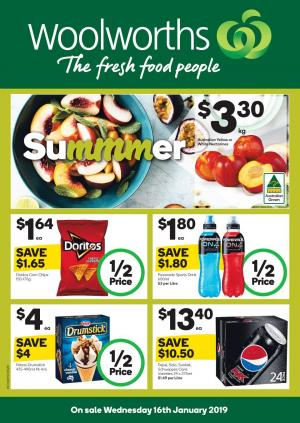 woolworths catalogue 16 jan 2019