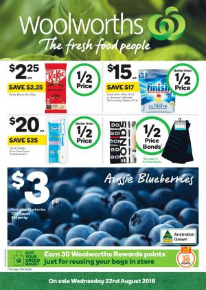 woolworths catalogue 22 august 2018
