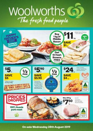 Woolworths Catalogue 28 Aug 3 Sep 2019 Grocery Half Prices
