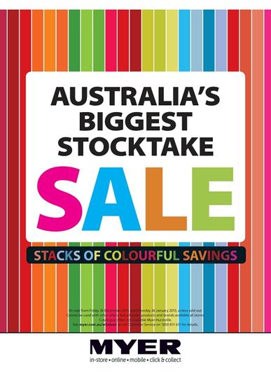 Myer Catalogue Australia Biggest Stocktake Sale