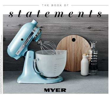 Myer Kitchen Appliances Catalogue Book of Statement