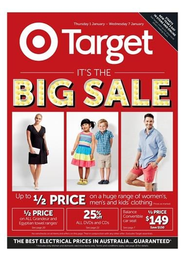 Target Catalogue Clearance January 2015 Featuring Sports Wear