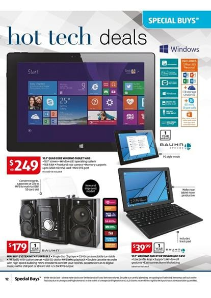 Aldi Catalogue Electronic Special Buys Week 8 2015