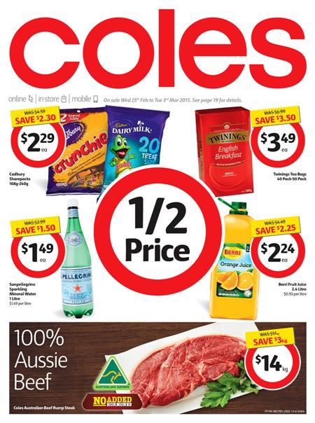 Coles Catalogue Sale Food February 2015 Full Preview