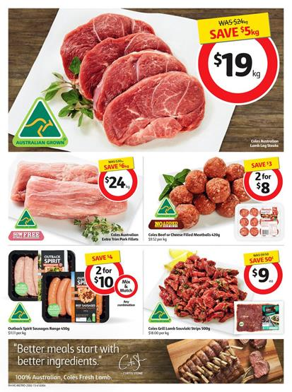 Coles Meat Prices February