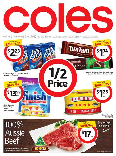 Coles Online Catalogue February 2015 Deals