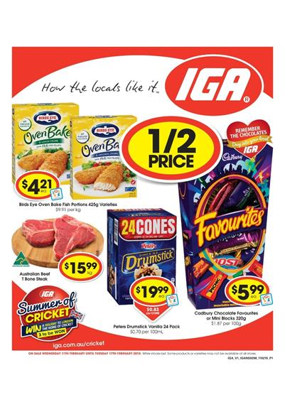 Iga Catalogue Deli Fresh Food Deals February 2015