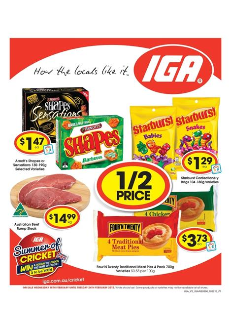 Iga Catalogue Low Prices February Offers 2015