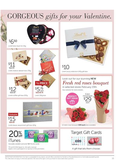 Target Valentine\'s Day Gifts Online Catalogue Prices