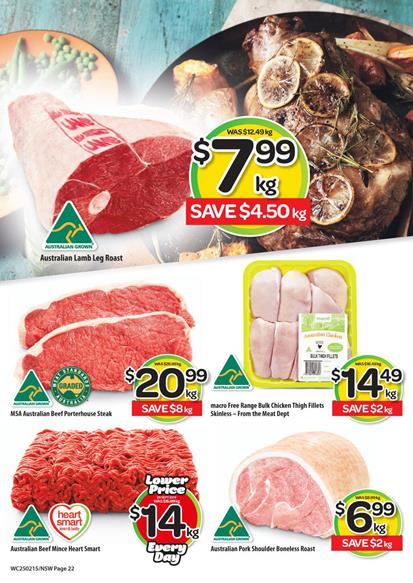 Woolworths Meat Prices February