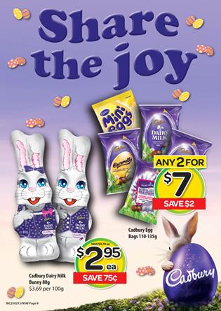 Woolworths easter february 2015
