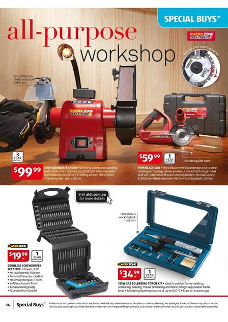 Work Zone Aldi Specials Week 8 Catalogue February 2015