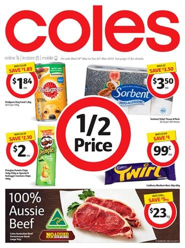 Coles Specials Catalogue March 2015 Easter Sale