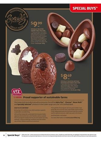 Easter Chocolates ALDI Catalogue March 2015