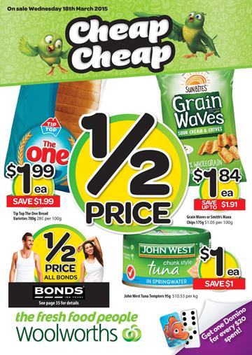 Half Prices Woolworths Catalogue March 2015 and Easter Sale