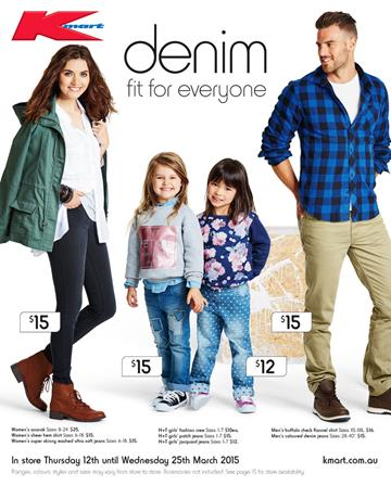 Kmart Catalogue Clothing Denim Wear Sale March 2015