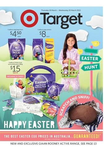 Target Happy Easter Catalogue Chocolates March
