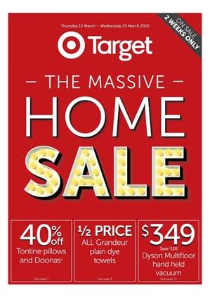 Target Massive Home Sale March 2015