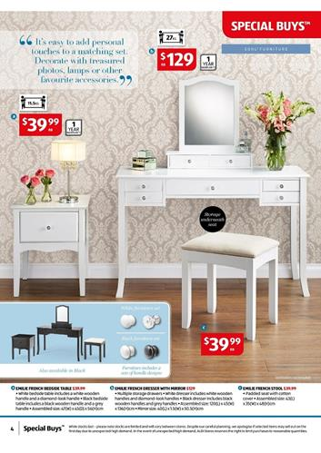 best sneakers 7b425 5ac74 ALDI Bedroom Catalogue Special Buys 15th April