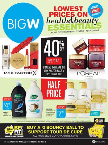 Big W Beauty and Health Products May 2015