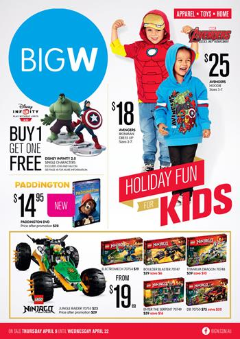 Big W Catalogue April Holiday Entertainment and Toy Sale