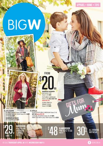 Big W Mothers Day Gifts Catalogue 30 April 2015