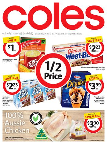 Coles Catalogue Half Prices 8th April