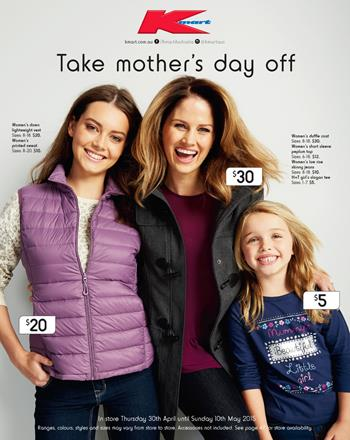 Kmart Gifts Mothers Day Sale on 30th April 2015