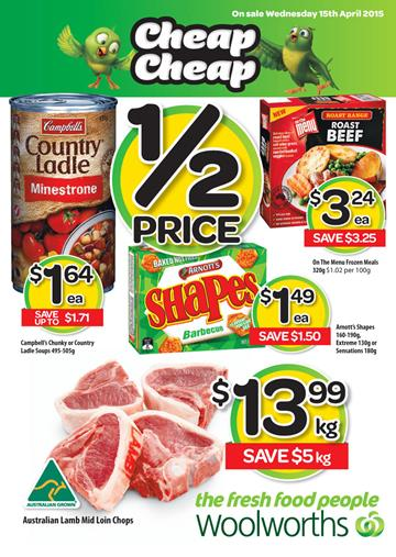 Woolworths Catalogue 15th April Specials