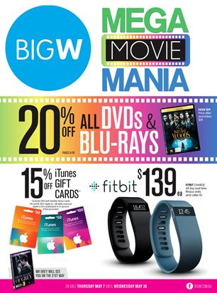 Big W DVD and Blu-Rays Catalogue 5 May 2015