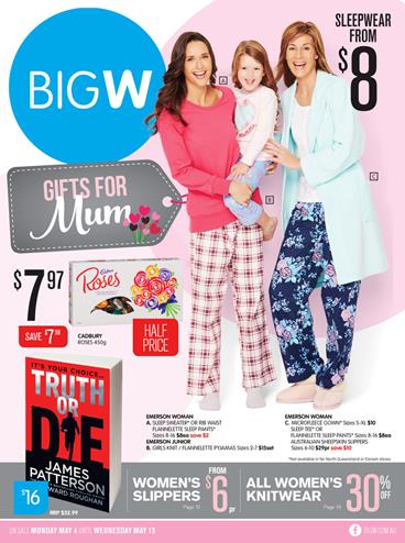 Big W Mothers Day Gifts and DVD Entertainment May 2015
