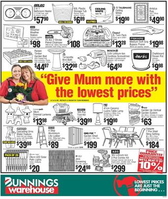 Bunnings Mothers Day Gifts 6 May 2015