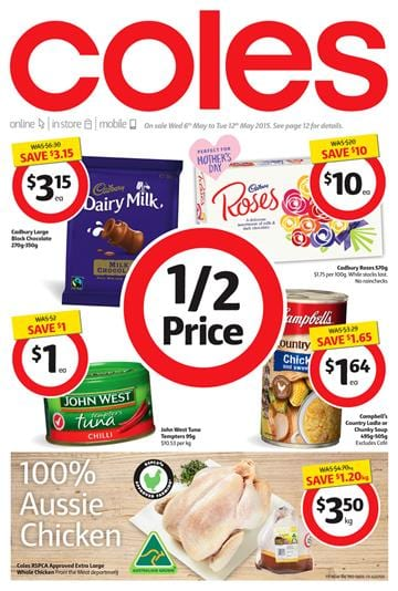 Coles Catalogue Mothers Day Gifts and Weekly Specials 6 May