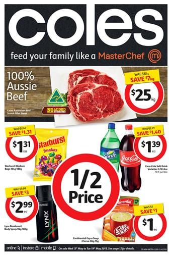 Coles Catalogue Specials 13 May 2015