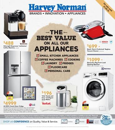 Harvey Norman Catalogue Home Appliances Offers 16 May 2015