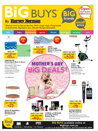 Harvey Norman Mothers Day Catalogue 5 May 2015