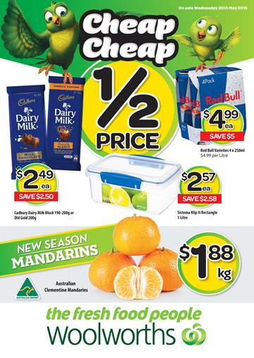 Woolworths Catalogue Specials 20 May 2015