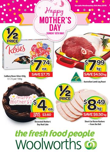 Woolworths Mothers Day Gifts Catalogue 6th May 2015