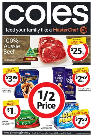 Coles Catalogue Specials and Fresh Products 03 June 2015