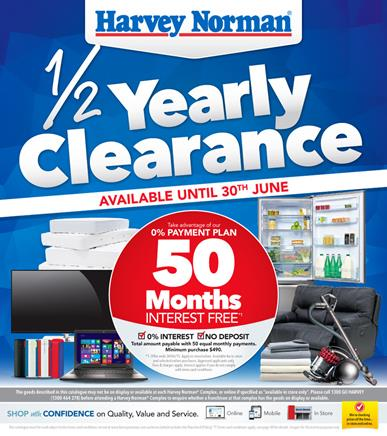 Harvey Norman Clearance Catalogues Half Prices 15 Jun 2015