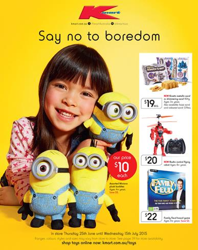 Kmart Catalogue June Toy Sale School Holiday Prices 25 June - 15 July 2015
