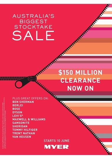 Myer Catalogue Stocktake Sale June 2015 Clothing and Home Products
