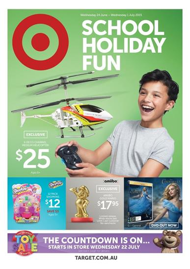 Target Catalogue Holiday Toy Sale 25 June 2015 - 01 July 2015