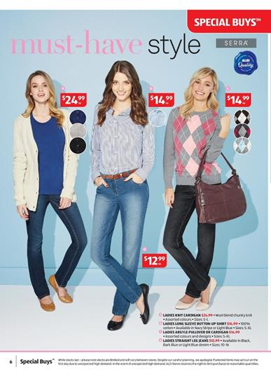ALDI Special Buys Women's Clothing and Bedding 8 July 2015